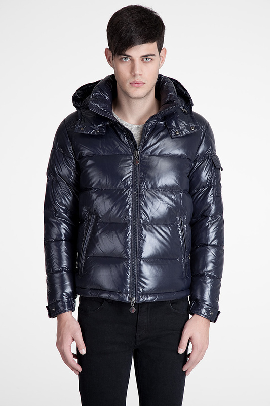 Cheap Moncler Jackets For Men Blue With Mock Collar MC1203 Sale